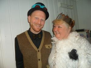 Stig og Marit, klare til å underholde barna!